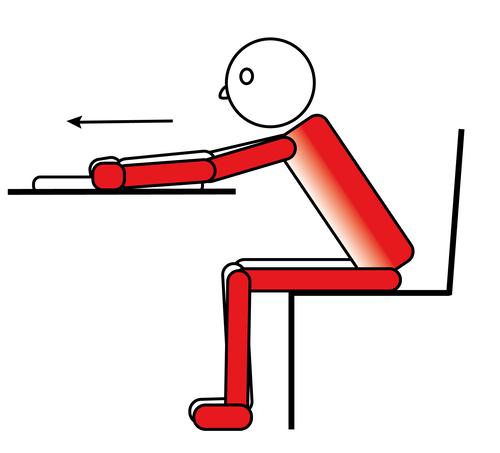 auto mobilizzazione della spalla da seduto al tavolo