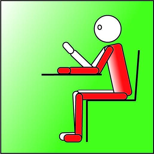 Posizione seduta corretta