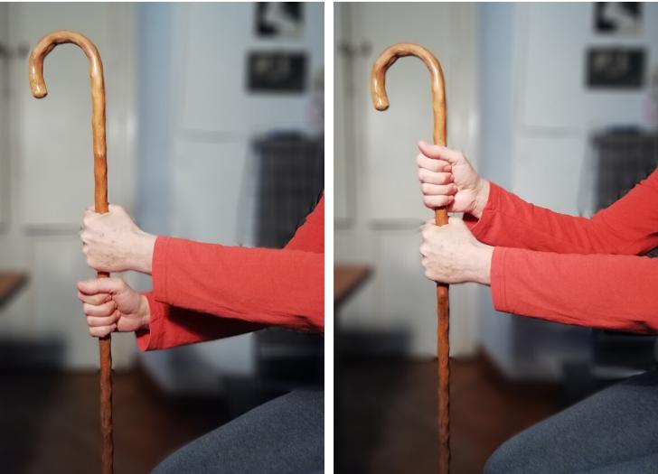 Attività funzionali per l'arto superiore: bastone