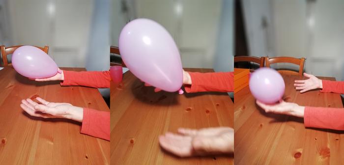Attività funzionali per l'arto superiore: palloncino